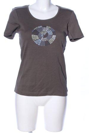 s.Oliver T-Shirt braun Schriftzug gedruckt Casual-Look