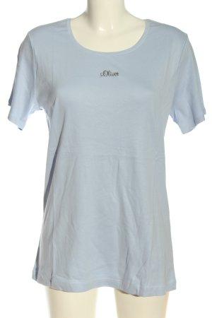 s.Oliver T-shirt niebieski Wydrukowane logo W stylu casual