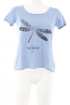s.Oliver T-Shirt blau Motivdruck Casual-Look