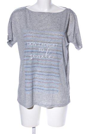 s.Oliver T-Shirt hellgrau-blau meliert Casual-Look