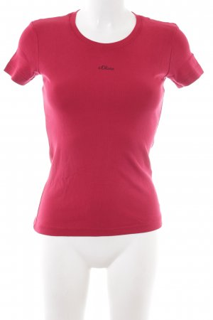 s.Oliver T-Shirt dunkelrot Casual-Look