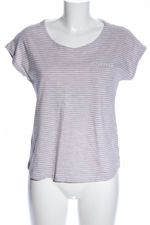 s.Oliver T-Shirt weiß-pink Streifenmuster Casual-Look