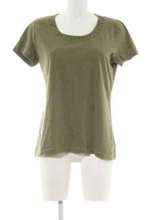 s.Oliver T-Shirt khaki meliert Casual-Look