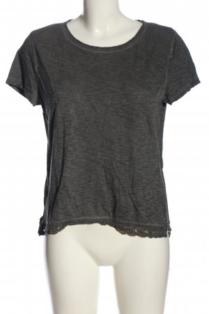 s.Oliver T-Shirt hellgrau meliert Casual-Look