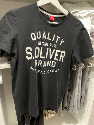s.Oliver T-shirt nero-bianco