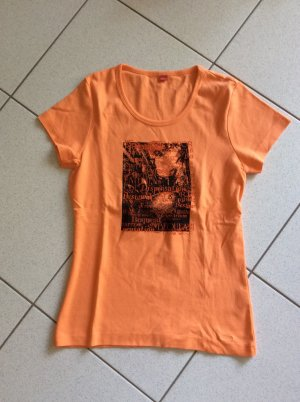 s.Oliver T-Shirt orange Gr. 38 mit Print