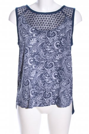 s.Oliver Tanktop blau-weiß grafisches Muster Casual-Look