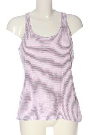 s.Oliver Tanktop wit-lila gestreept patroon casual uitstraling