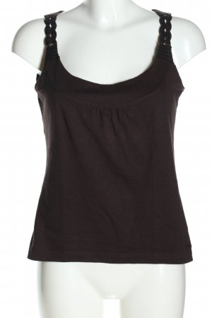 s.Oliver Tanktop braun Zopfmuster Casual-Look