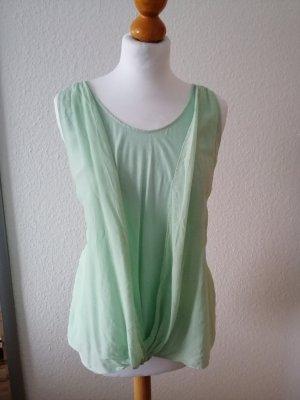 S. Oliver Top pastel grün Bluse Chiffon Shirt 40