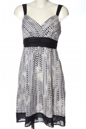 s.Oliver Pinafore dress black-white allover print casual look