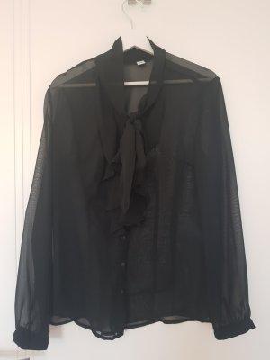 s.Oliver transparente Bluse mit Schluppe