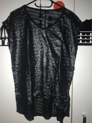 s.Oliver Mesh Shirt black-silver-colored