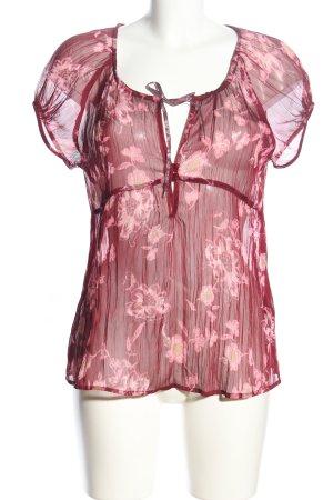 s.Oliver Transparenz-Bluse pink Blumenmuster Elegant