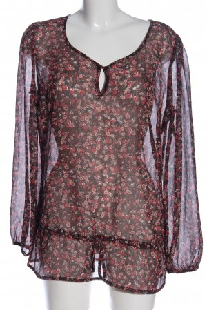 s.Oliver Transparenz-Bluse Allover-Druck Casual-Look