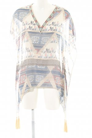 s.Oliver Transparenz-Bluse grafisches Muster Casual-Look