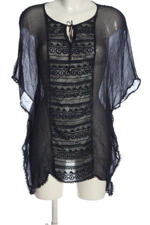 s.Oliver Transparenz-Bluse schwarz Webmuster extravaganter Stil