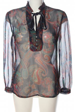 s.Oliver Transparentna bluzka Abstrakcyjny wzór Elegancki
