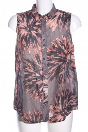 s.Oliver Transparenz-Bluse Blumenmuster Casual-Look