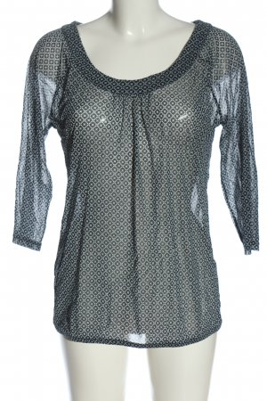 s.Oliver Transparent Blouse blue-natural white allover print casual look