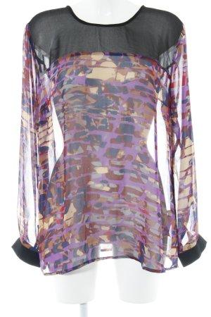 s.Oliver Transparenz-Bluse abstraktes Muster Transparenz-Optik