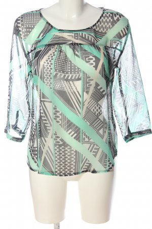 s.Oliver Transparent Blouse allover print casual look