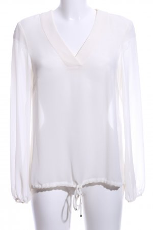 s.Oliver Transparenz-Bluse wollweiß Business-Look