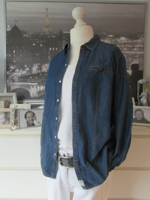 S.Oliver * Traum Jeans Hemd * dunkelblau gelb Kontrast * 42/44
