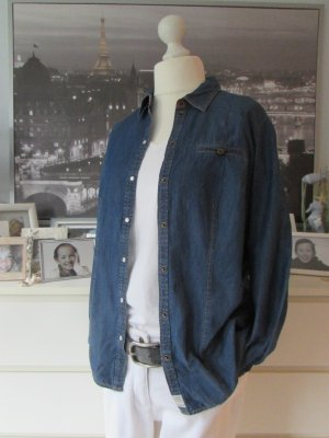 s.Oliver Denim Shirt dark blue