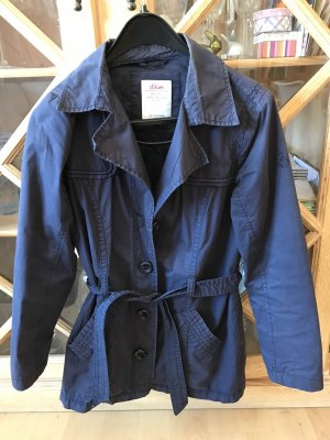 s.Oliver Trench blu scuro