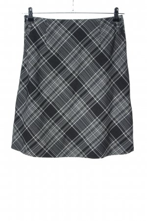 s.Oliver Tulip Skirt light grey-white check pattern business style