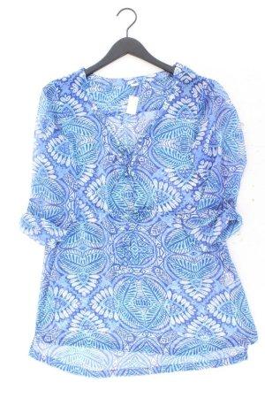 s.Oliver Tunika Größe 38 mit Blumenmuster blau aus Polyester