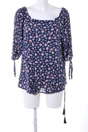 s.Oliver Tunikabluse blau-pink Blumenmuster Casual-Look