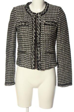 s.Oliver Blazer Tweed negro-blanco puro Patrón de tejido estilo «business»
