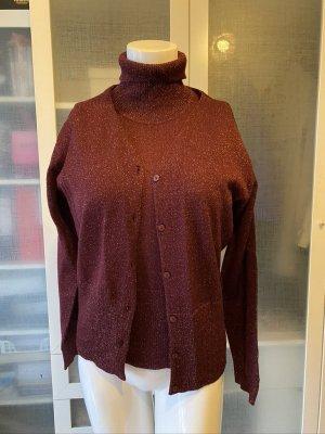 s.Oliver Ensemble en tricot rouge carmin laine