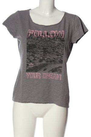 s.Oliver U-Boot-Shirt hellgrau-pink meliert Casual-Look