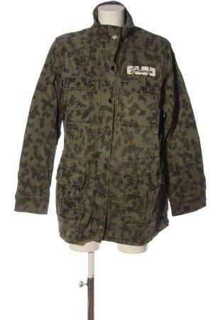 s.Oliver Between-Seasons Jacket khaki abstract pattern casual look