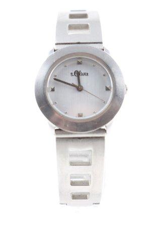 s.Oliver Uhr mit Metallband silberfarben Business-Look