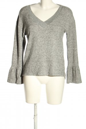 s.Oliver V-Neck Sweater light grey flecked casual look