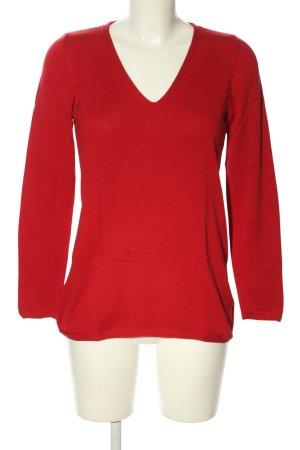 s.Oliver Sweter z dekoltem w kształcie litery V czerwony W stylu casual