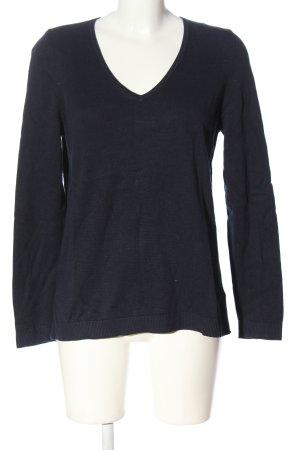 s.Oliver V-Ausschnitt-Pullover blau Casual-Look