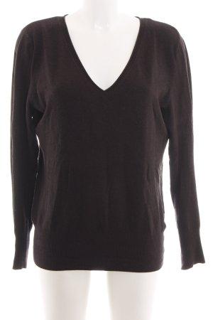 s.Oliver V-Ausschnitt-Pullover braun Casual-Look