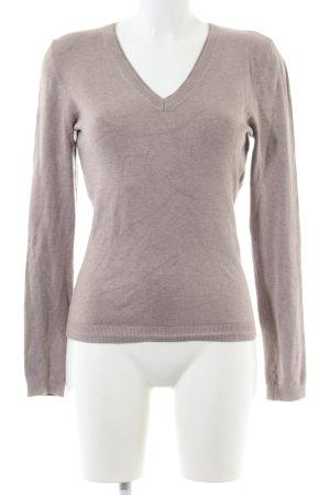 s.Oliver V-Ausschnitt-Pullover braun Business-Look
