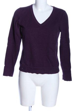 s.Oliver V-Ausschnitt-Pullover lila Casual-Look