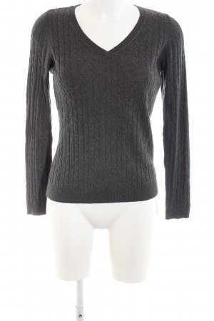 s.Oliver V-Ausschnitt-Pullover hellgrau meliert Casual-Look