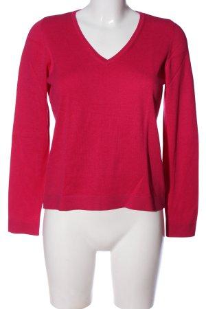 s.Oliver V-Ausschnitt-Pullover pink Casual-Look