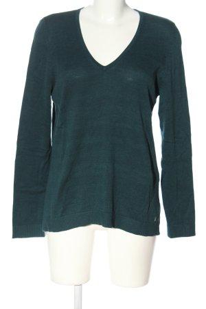 s.Oliver V-Ausschnitt-Pullover grün Casual-Look