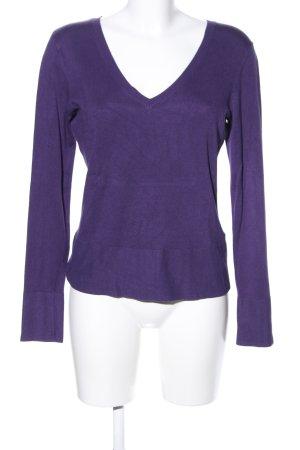 s.Oliver V-Ausschnitt-Pullover lila Business-Look
