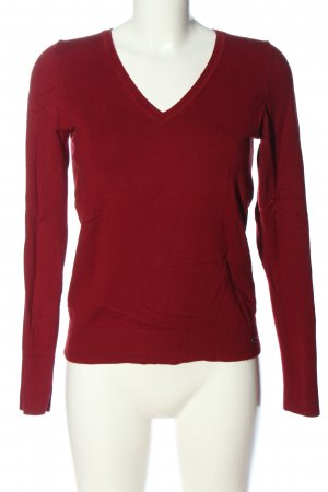 s.Oliver V-Neck Sweater red casual look