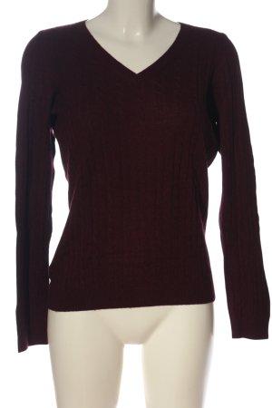 s.Oliver V-Ausschnitt-Pullover rot Casual-Look